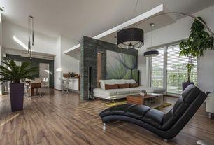 Modern Great Room with Open concept, Arc shade floor lamp, black, way fair.com, Standard height, Breakfast bar, Paint