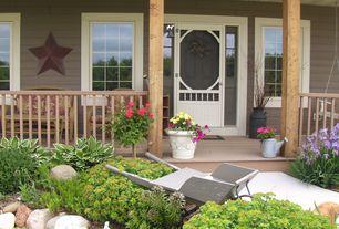Country Front Door with exterior stone floors, Glass panel door, Pathway, exterior tile floors
