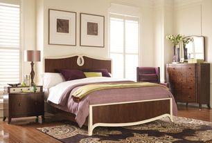 Traditional Guest Bedroom with Standard height, Crown molding, Hardwood floors, Casement