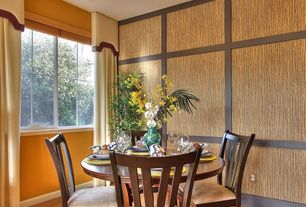 Contemporary Dining Room with Hardwood floors, Phillip jeffries extra fine arrowroot fine tobacco 075