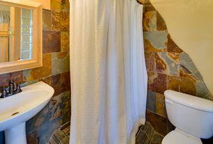 Rustic 3/4 Bathroom with Pedestal sink