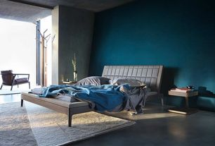 Contemporary Master Bedroom with Concrete floors, Halifax Arm Chair by Gus Modern