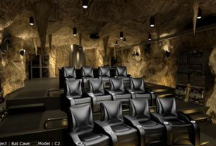 Rustic Home Theater with Klaussner furniture astor place home theater bonded leather recliner