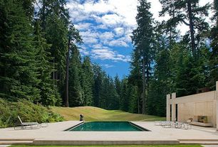 Modern Swimming Pool with Other Pool Type, Outdoor seating area, exterior stone floors