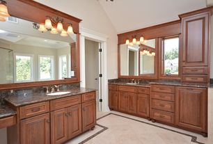 Traditional Master Bathroom with KALCO Lighting - 3 Light Amelie
