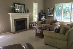 Traditional Living Room With Canova Mirror Carpet Cullen Loveseat By