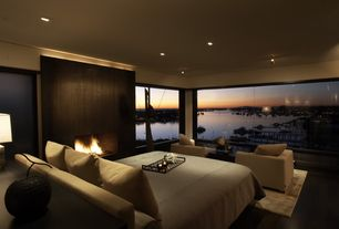 Contemporary Master Bedroom with Corona del mar, california, Solus Fireplace Surround Port Surround, Bedroom seating area