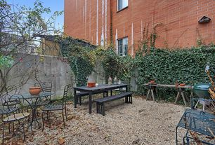 Rustic Landscape/Yard with Fence, Outdoor kitchen