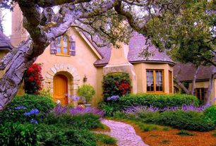 Cottage Exterior of Home with picture window, Fence, Pathway