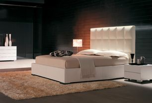 Contemporary Master Bedroom with Concrete tile