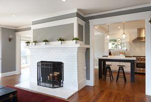 Cottage Living Room with Jvi designs 1300 g6 grand central 1-light mini pendant light, Ikea dalfred bar stool black