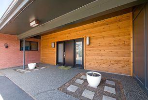 Contemporary Front Door with specialty window