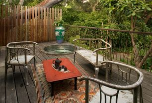 Asian Deck with Deck Railing