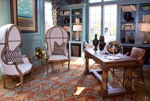 Traditional Home Office with Dome chair, Paint, Versailles chair, Window seat, Standard height, picture window, Dome chair