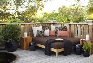 Contemporary Deck with A&B Home Group, Inc WZA3907 Ceramic Garden Stool, Rizzy home cable knit cotton throw
