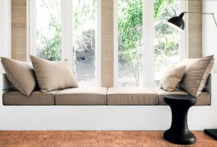 Contemporary Living Room with Window seat, Laminate floors, Globus Cork Flooring in Nugget Natural, interior wallpaper