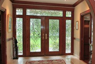 Traditional Entryway with Concrete floors, Estate Door Collection DbyD-1160, French doors, Transom window
