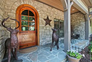 Country Front Door with Rock mountain products irontone 18 in. x 18 in. irregular natural flagstone step stone, The sonoma