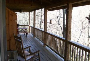 Rustic Porch with Deck Railing