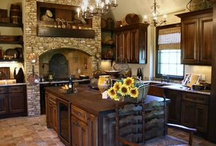 Craftsman Kitchen with Premier Copper Products Double-Basin Apron Front/Farmhouse Copper Kitchen Sink, Flat panel cabinets