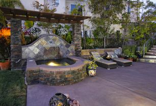 Rustic Hot Tub with Aosom llc outsunny 3 piece lounge seating group with cushion, exterior concrete tile floors, Pathway