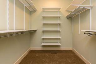 Traditional Closet with flush light, Carpet, Built-in bookshelf, Standard height