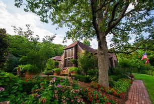 Traditional Landscape/Yard with exterior brick floors, Pathway, Casement