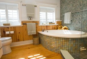 Country Master Bathroom with Daltile Continental Slate Asian Black 6 in. x 6 in. Porcelain Floor and Wall Tile
