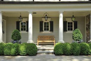 Traditional Porch with exterior concrete tile floors, Screened porch, exterior tile floors