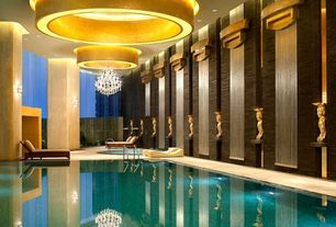 Contemporary Swimming Pool with Indoor pool, TK Classics Bora Bora Double Wicker Chaise Lounge, exterior tile floors