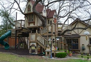 Traditional Playroom with Balcony, Playground, Tree house