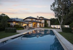 Contemporary Swimming Pool with Deck Railing, exterior tile floors, exterior concrete tile floors, Pool with hot tub, Pathway