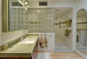Traditional Master Bathroom with Large Ceramic Tile, Flush, Master bathroom, European Cabinets