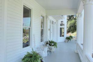 Traditional Porch with Deck Railing, exterior tile floors, exterior concrete tile floors, Transom window, Wrap around porch