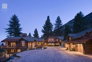 Rustic Garage with High ceiling
