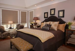 Traditional Master Bedroom with Laminate floors, Crown molding