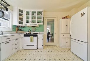 Traditional Kitchen with Kitchen Craft, Calvi Cabinet Door Style, French doors, L-shaped, Concrete tile , Raised panel, Flush