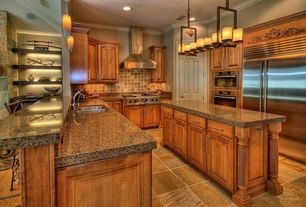 Mediterranean Kitchen with Justice Design Group CNDL-8764-14-CREM-DBRZ Dark Bronze Dakota 14 Light Tall Linear Chandelier