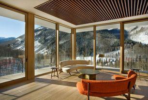 Modern Living Room with Hardwood floors, Sunroom, Oak - mystic taupe 5 in. solid hardwood plank