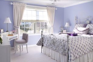 Traditional Kids Bedroom with Inspired home decor - ansley white twin wrought iron bed frame (similar), Paint, Chandelier
