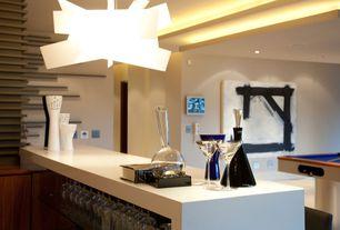 Contemporary Bar with Pendant light