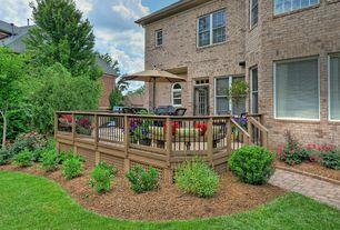 Traditional Deck with Pathway, Deck Railing, Arched window, Treasure garden 9 ft. aluminium auto tilt patio umbrella