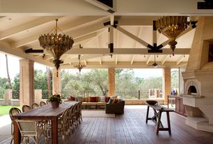 Traditional Porch with outdoor pizza oven, Screened porch