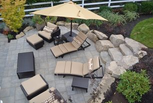Modern Patio with Fence, Pathway, exterior stone floors
