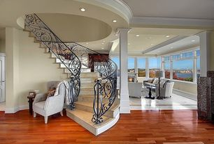 Traditional Staircase with Columns, Crown molding, Box ceiling, simple granite floors