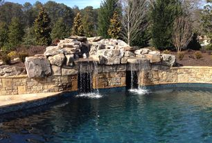 Rustic Swimming Pool with Other Pool Type, Raised beds, exterior stone floors