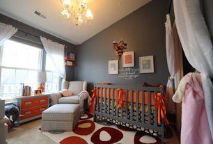Traditional Kids Bedroom with Carpet, Built-in bookshelf, Chandelier, Standard height, no bedroom feature, double-hung window