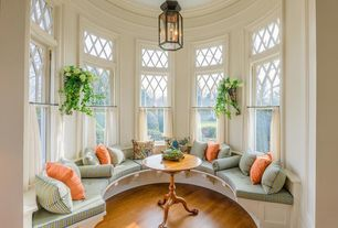 Traditional Living Room with Paint 2, Safavieh nikki tea table amh4024a, Built-in seating, Window seat, Paint 1, Chandelier