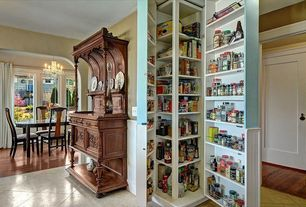 Traditional Pantry with Daltile limestone in jura beige