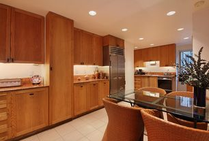 Modern Kitchen with Complex granite counters, U-shaped, Breakfast nook, Flush, Flat panel cabinets, Complex Granite